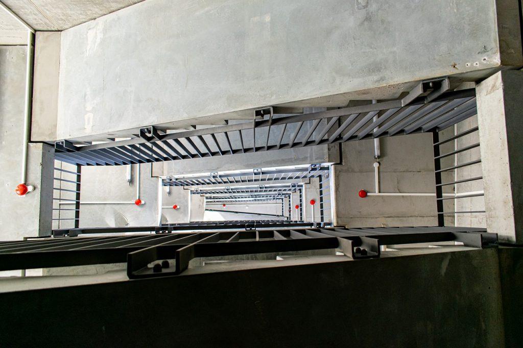 Sistema de pressurização de escada